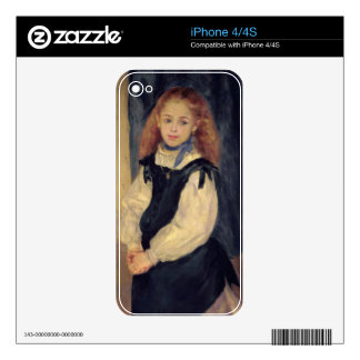 Pierre A Renoir | Portrait of Mademoiselle Legrand Decals For The iPhone 4S