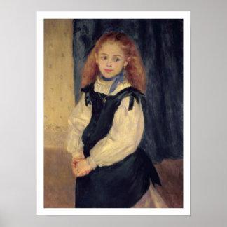 Pierre A Renoir | Portrait of Mademoiselle Legrand Poster