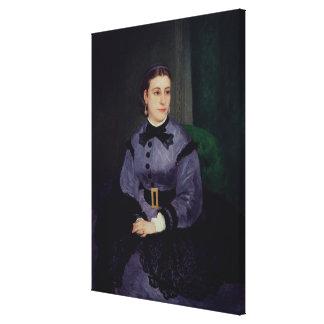 Pierre A Renoir | Portrait of Mademoiselle Sicot Canvas Print