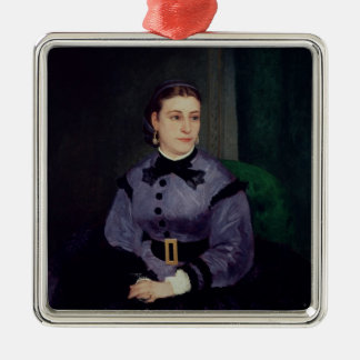 Pierre A Renoir | Portrait of Mademoiselle Sicot Metal Ornament