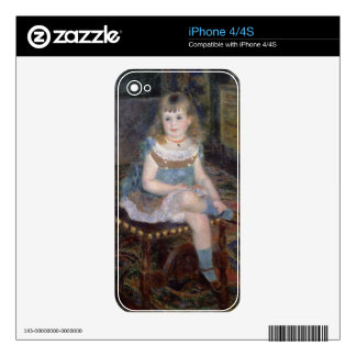 Pierre A Renoir | Portrait of Mlle. G. Charpentier Skins For iPhone 4S