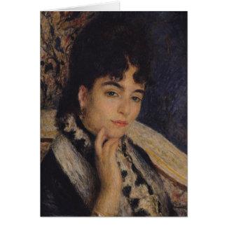 Pierre A Renoir | Portrait of Mme. Alphonse Daudet Card