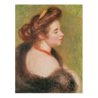 Pierre A Renoir | Portrait of Mme. Maurice Denis Postcard