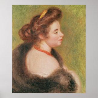 Pierre A Renoir | Portrait of Mme. Maurice Denis Poster