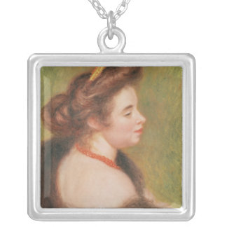 Pierre A Renoir | Portrait of Mme. Maurice Denis Silver Plated Necklace