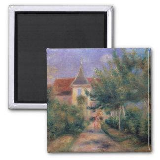 Pierre A Renoir | Renoir's house at Essoyes 2 Inch Square Magnet