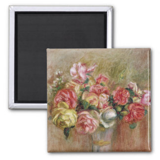 Pierre A Renoir | Roses in a Sevres vase Magnet