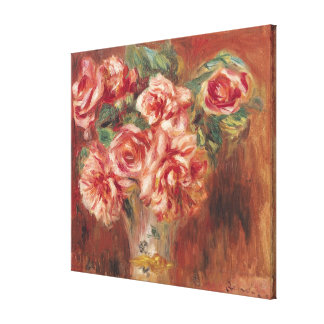Pierre A Renoir | Roses in a Vase Canvas Print