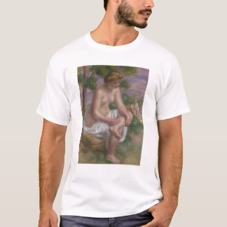 Pierre A Renoir | Seated Bather in a Landscape T-Shirt