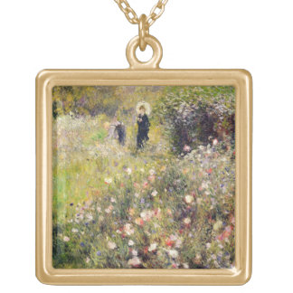 Pierre A Renoir | Summer Landscape Gold Plated Necklace