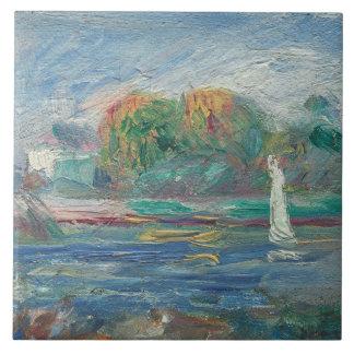 Pierre A Renoir | The Blue River Tile