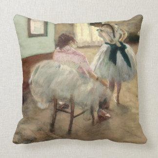 Pierre A Renoir | The Dance Lesson Throw Pillow
