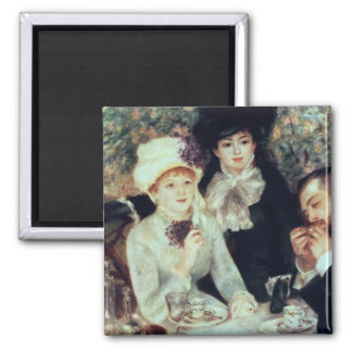 Pierre A Renoir | The End of Luncheon, 1879 2 Inch Square Magnet