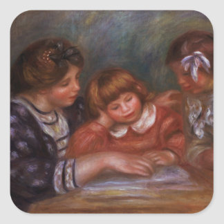 Pierre A Renoir | The Lesson Square Sticker