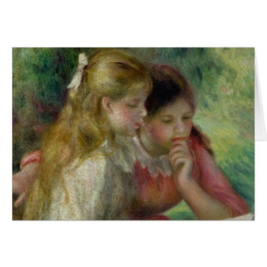 Pierre A Renoir   The Reading Card