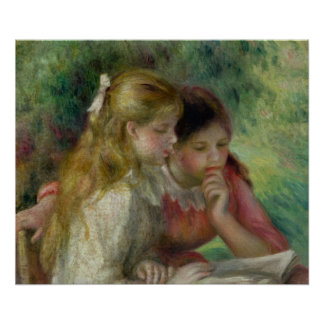 Pierre A Renoir | The Reading Poster