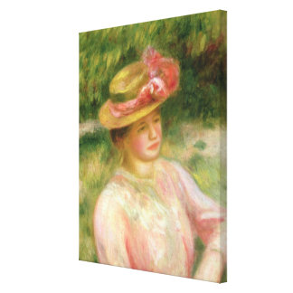Pierre A Renoir   The Straw Hat Canvas Print