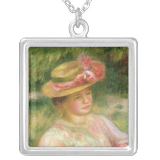 Pierre A Renoir | The Straw Hat Silver Plated Necklace