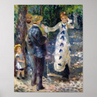 Pierre A Renoir   The Swing Poster