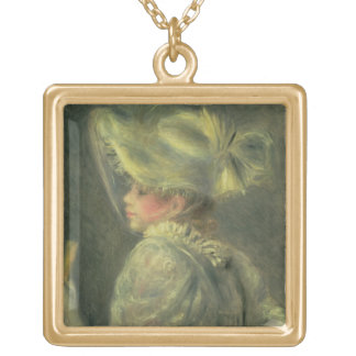Pierre A Renoir | The White Hat Gold Plated Necklace