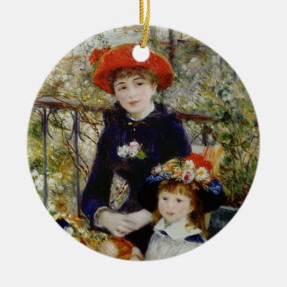 Pierre A Renoir | Two Sisters, or On The Terrace Ceramic Ornament