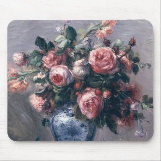 Pierre A Renoir | Vase of Roses Mouse Pad