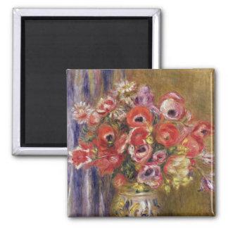 Pierre A Renoir | Vase of Tulips and Anemones Magnet