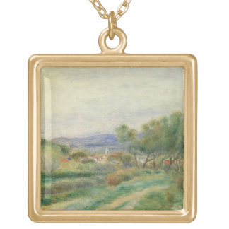 Pierre A Renoir | View of La Seyne, Provence Gold Plated Necklace
