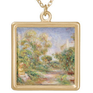 Pierre A Renoir | Woman in a Landscape Gold Plated Necklace