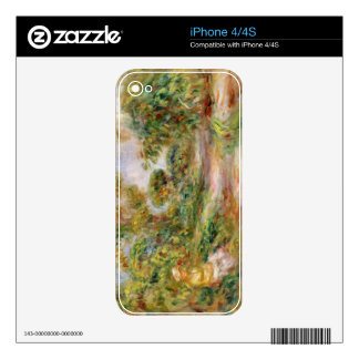 Pierre A Renoir | Woman in a Landscape Skins For iPhone 4S