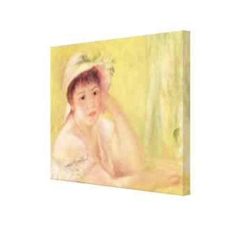 Pierre A Renoir   Woman in a Straw Hat Canvas Print