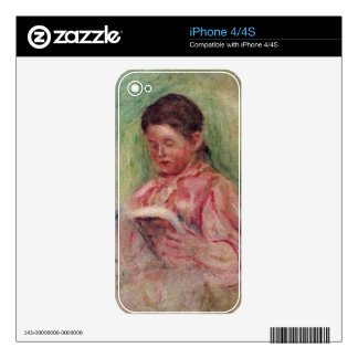 Pierre A Renoir | Woman Reading Decals For iPhone 4S