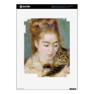 Pierre A Renoir | Woman with a Cat Decal For iPad 3