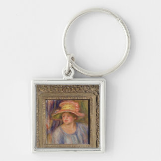 Pierre A Renoir | Woman with a Hat Keychain