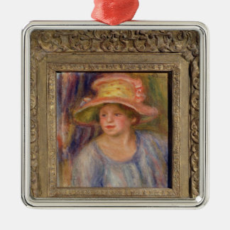 Pierre A Renoir | Woman with a Hat Metal Ornament