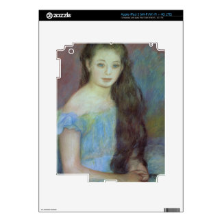 Pierre A Renoir | Young girl with blue eyes iPad 3 Decal