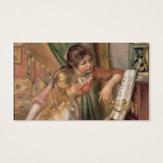 Pierre A Renoir   Young Girls at the Piano Business Card