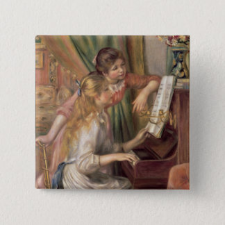 Pierre A Renoir | Young Girls at the Piano Button