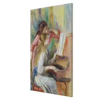 Pierre A Renoir | Young Girls at the Piano Canvas Print