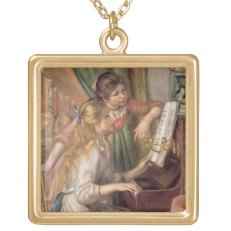 Pierre A Renoir | Young Girls at the Piano Gold Plated Necklace