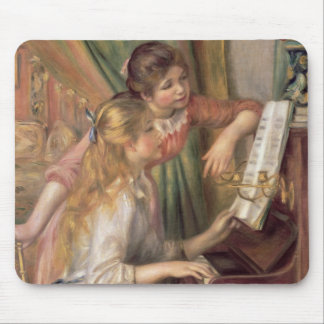 Pierre A Renoir | Young Girls at the Piano Mouse Pad