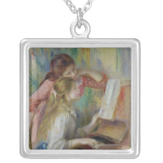 Pierre A Renoir | Young Girls at the Piano Silver Plated Necklace