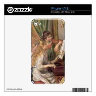 Pierre A Renoir | Young Girls at the Piano Skin For The iPhone 4S