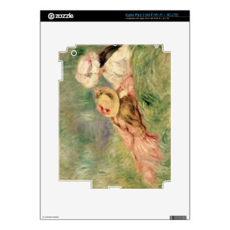 Pierre A Renoir | Young Girls on the River Bank iPad 3 Skin
