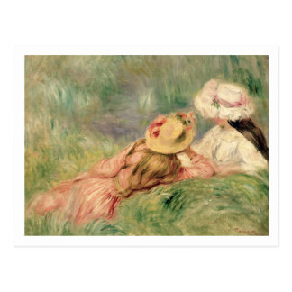 Pierre A Renoir | Young Girls on the River Bank Postcard