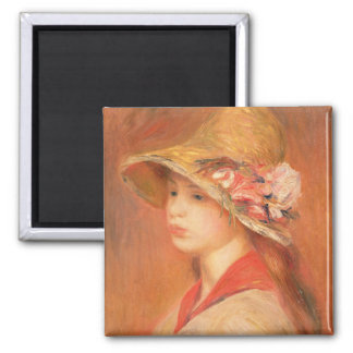 Pierre A Renoir | Young Woman in a Hat Magnet