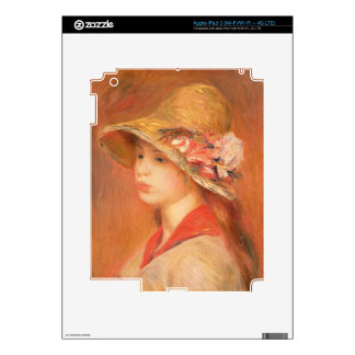 Pierre A Renoir | Young Woman in a Hat Skins For iPad 3