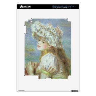 Pierre A Renoir | Young woman in a lace hat Decal For iPad 3
