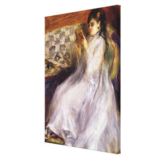 Pierre A Renoir | Young Woman Reading Canvas Print