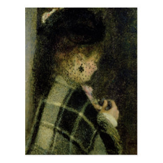 Pierre A Renoir | Young Woman with a Small Veil Postcard
